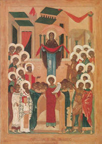 Icon: Protection of the Theotokos Oct 1