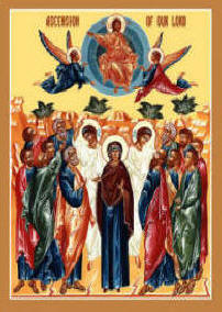 Icon: Ascension of Our Lord Jesus Christ May 5