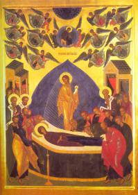 Icon: Dormition of the Mother of God. August 15