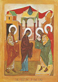 Icon: Meeting of Our Lord Jesus Christ February 2