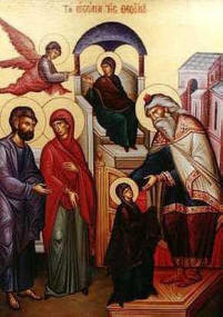 Icon: Entrance of the Theotokos into the Temple. Nov 21