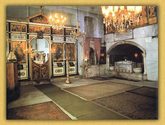 Interior of the Church of Panagia of Blachernae in Constantinople